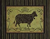 la Vache by Devereux, Sophie- Fine Art Print on CANVAS : 33 x 26 Inches