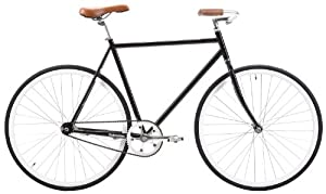 Retrospec Fixie Style Siddhartha Single Speed Urban Coaster Brake Bike, Black, 45cm/X-Small