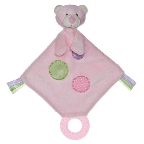 Aurora Baby Bear Teether Toy, Pink