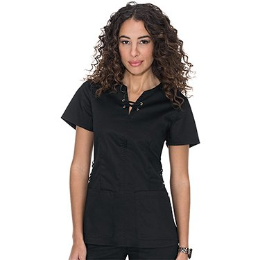 koi-Stretch-Womens-Penelope-Lace-Up-Neck-Scrub-Top