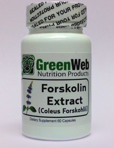 Green Web Forskolin Extract (Coleus Forskohlii) Extra Strength Weight Loss Aid, 100 Mg, 60 Capsules, Powerful Diet Supplement