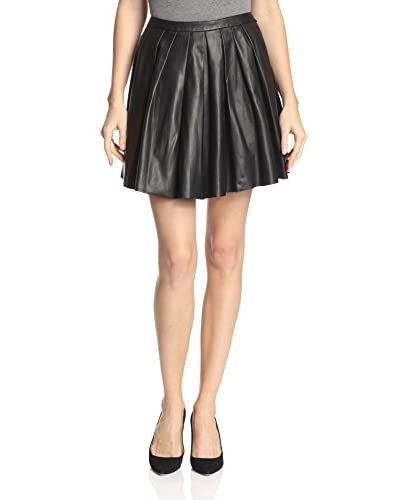 Nicole Miller Women's Leather Skirt