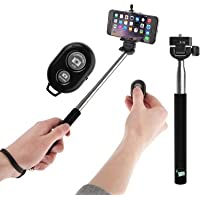 Extendable Self Portrait Selfie Handheld Stick Monopod + Wireless Bluetooth Remote Control For Sony Xperia M2...