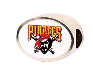 Pittsburgh Pirates Charm Bead Fits Most Pandora Style Bracelets Including Pandora,... by Final Touch Gifts
