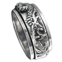 925 Sterling Silver DRAGON Spinner Ring--Hawaiian Silver Jewelry