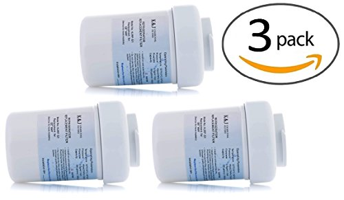 3-Pack GE MWF Refrigerator Filter by K&J - SmartWater Filter Cartridge (Smart Fit Water Filter compare prices)