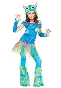 Girls Blue Beastie Monster (Medium (8-10))