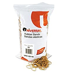 Rubber Bands, Size 10, 1-1/4 x 1/16, 3400 Bands/1lb Pack, Total 10 PK, Sold as 1 Carton
