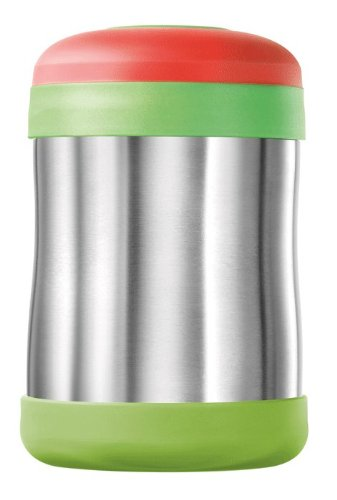 Thermos Stainless Steel Food Jar 400ml, Leak Proof (Green/Red)