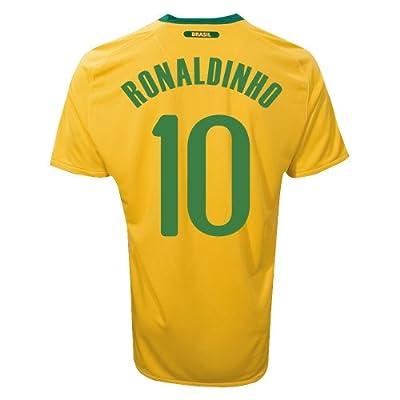 BRAZIL RONALDINHO #10 HOME JERSEY (S)