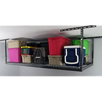 Monsterrax - 4x8 Overhead Garage Storage Rack Heavy Duty (24