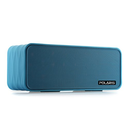 Polaris V8 Portable Bluetooth Wireless Speaker with FM-Radio, NFC, AUX Jack, TF Card Slot, Voice Prompts, LED Display, Build-in HQ MIC for Hands Free Calls, Up to 10 Hours Play Time, 2000mAh Removable Rechargeable 18650 Li-ion Battery.