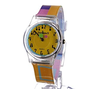 ForeseeX Unique Block Pointer Colorful Waterproof Wrist Watches for Teenagers Boys Girls FSX113-N7