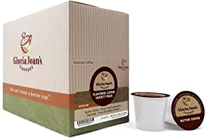 Gloria Jean's Coffees, Flavored Coffee Variety, 22-Count K-Cups for Keurig Brewers (Pack of 2)