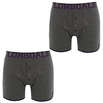 2 Pack Boxers Mens [CharM/Dk Purple , Small ]