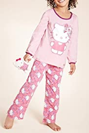 Pure Cotton Hello Kitty Floral Pyjamas [T86-4754C-S]