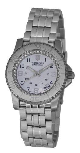 Victorinox Maverick II V.251147 - Reloj analógico de cuarzo para mujer, correa de acero inoxidable color plateado