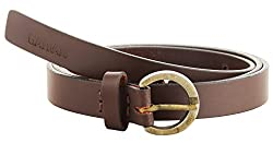 Garvan Women's Lt.Brown Leather Belt (LBW 3-Lt.Brown-B, Size : 30)