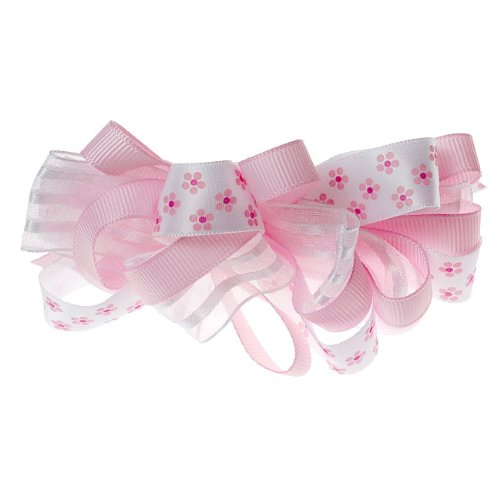 Boutique Baby Girl Accessory Grosgrain BARRETTE LIGHT PINK Hair Bow