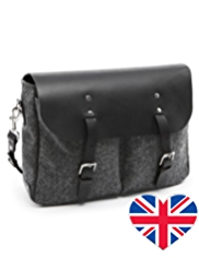 Best of British Pure Wool Herringbone Messenger Bag