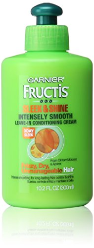 Garnier Fructis Sleek & Shine Intensely Smooth Leave-In Conditioning Cream, 10.2 Fl. Oz.