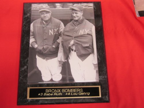 Babe Ruth Lou Gehrig New York Yankees Collector Plaque w/8x10 RARE DUGOUT JACKETS Photo at Amazon.com