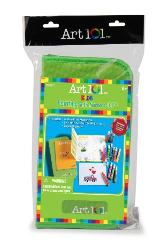 Art 101 Kids Drawing with Markers in Zipper Bag - 1
