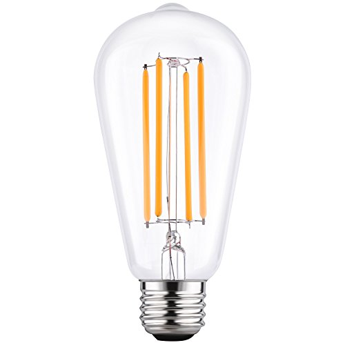 LETO ST64 Vintage LED Edison Bulbs Filament Light Bulb Dimmable [edison style][Energy Saving 4W LED- 40W Equivalent ][UL Listed][2200K Warm]E26 Based [led bulb home]-1Pack