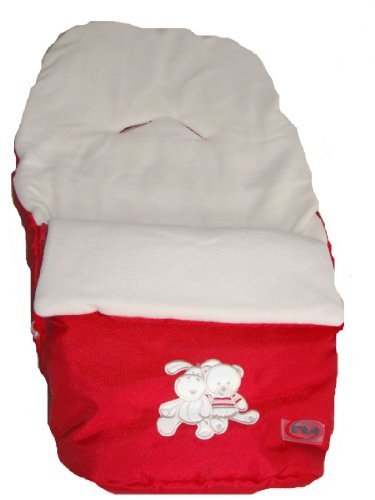 Foot muff for carrycot and pram or trailer - Sleeping bag red