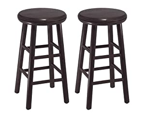 Winsome Wood 24-Inch Swivel Bar Stools, Dark Espresso Finish, Set of 2 by Winsome Wood