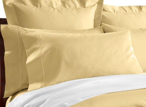 Cuddledown 400 Thread Count Pillowcase, Standard/Queen, Lemon front-823131
