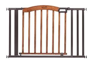 Summer Infant Decorative Wood & Metal 5 Foot Pressure Mounted Gate, Brown/Black