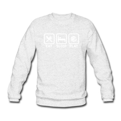 Spreadshirt, eat_sleep_play_basketball, Men's Sweatshirt, salt & pepper, M