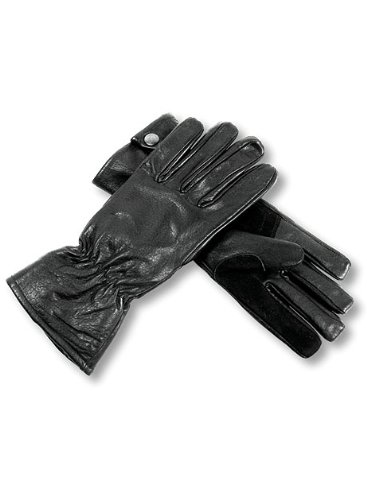 Interstate Leather Men's Perforated Driving Gloves (Black, Medium)