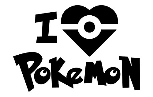 [Best Pokemon Vinyl Decal, Includes FREE E-book - 10 Top Pokemon Go Tips! Gotta Catch Em All Decals,, Made In The USA, Easy To Apply And Removable BLACK Vinyl, GO] (Magnificent Movie Costume)