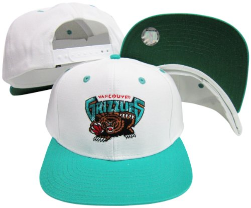 Best Discount Vancouver Grizzlies White Teal Two Tone Snapback Adjustable  Plastic Snap Back Hat   8240260be