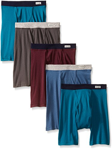 fruit-of-the-loom-mens-5-pack-no-ride-up-covered-waistband-boxer-brief-assortedlarge