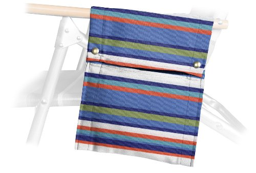 Telescope Casual Beach Chair Side Bag, Atlantic Blue Stripe (Discontinued By Manufacturer)