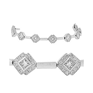Clevereve Diamond Bracelet - Grand Anniversary Diamond Tennis Bracelet In 18K White