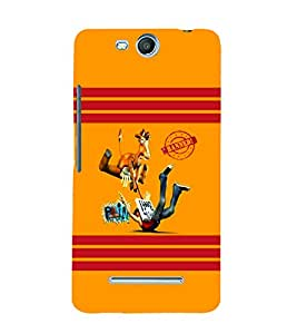 PrintVisa Cute Cartoon Modern Art 3D Hard Polycarbonate Designer Back Case Cover for Micromax Bolt Q338