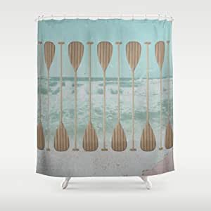 society6 stand up paddle shower curtain by