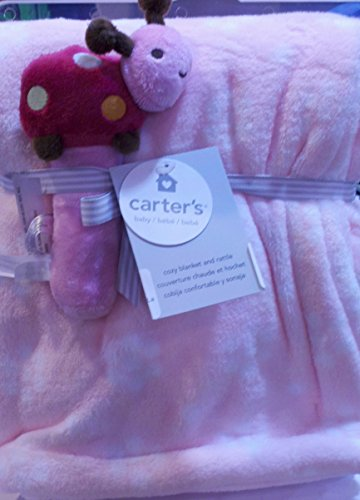 Carter's Printed Boa Blanket with Rattle, Ladybug (Discontinued by Manufacturer)