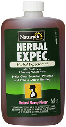 Naturade,  Herbal Expec,  Herbal Expectorant with Guaifenesin, Natural Cherry Flavor, 8.8-Ounce Bottle (Natural Cough Syrup compare prices)