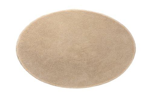 Grund 2399444120 Badteppich rund Comfort, Durchmesser 90 cm, sand