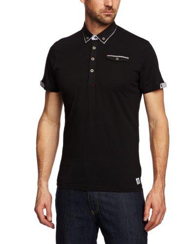 GUIDE LONDON SJ.3818 Polo Shirt Men's Top Black Large