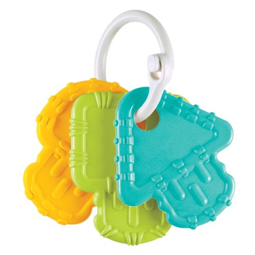 Re-Play Teething Keys, Aqua, Green and Sunny Yellow - 1