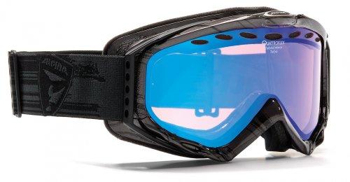 Skibrille Alpina Turbo QM 2 Farben, Farbe:Schwarz grau crash