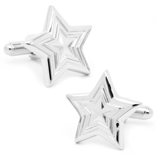 Silver Star Cufflinks
