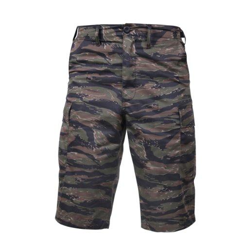 Rothco Long Style B.D.U Shorts, Tiger Stripe Camo, XL Tiger Stripe Camouflage Shorts