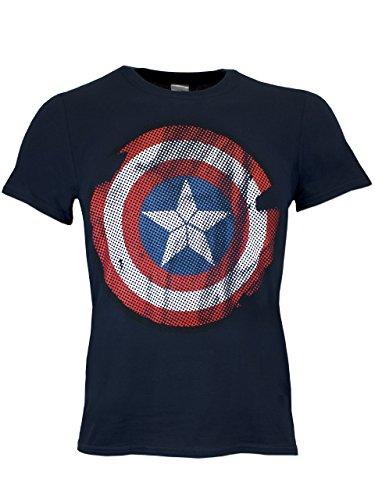 Capitan America - Maglietta a maniche corta per uomo - Large